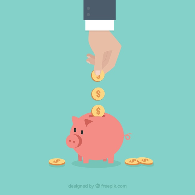 Saving money in business Free Vector