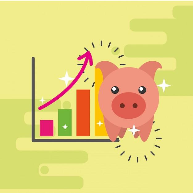 Saving money business Premium Vector