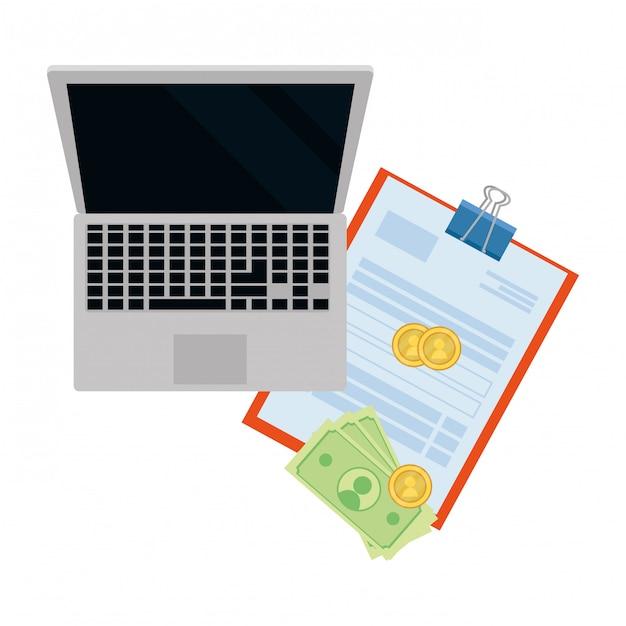 Saving money cartoon Premium Vector
