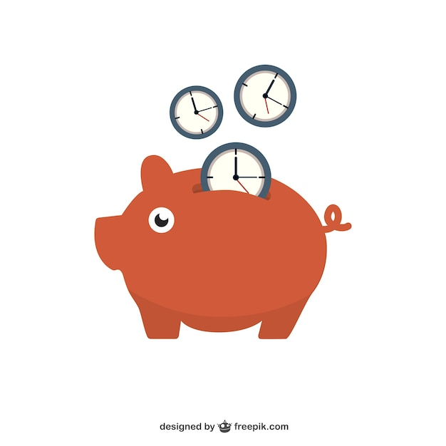 Saving time Free Vector