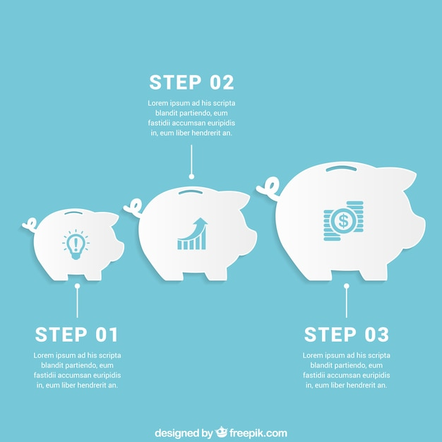 Savings infographic Free Vector
