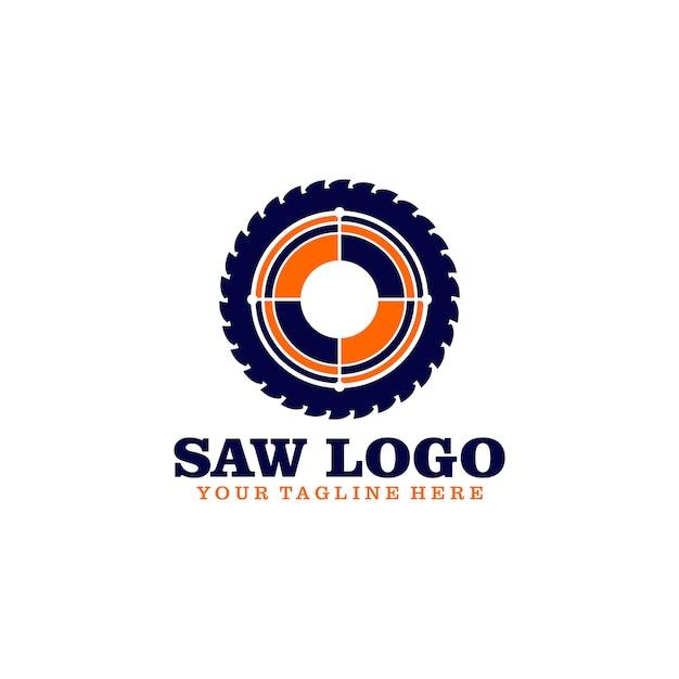 Saw logo Premium Vector