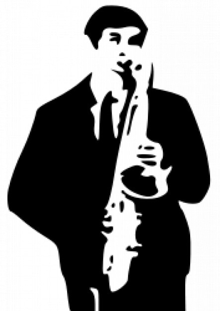 Saxophone Player Vector Free Download
