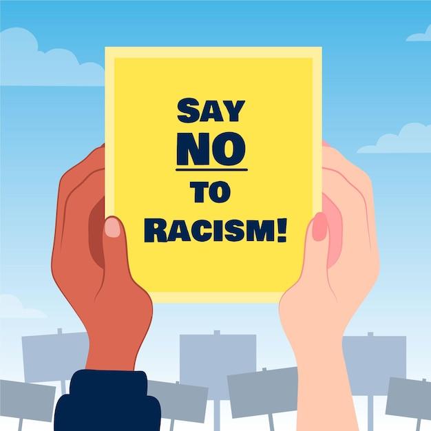 Скажи нет концепции расизма плакат Бесплатные векторы