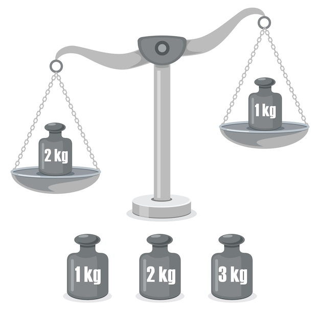 Scales of justice, weight balance Premium Vector
