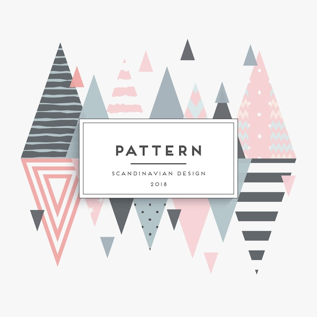 Scandinavian geometric background Premium Vector