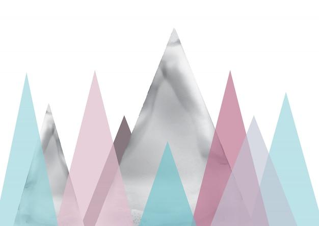 Scandinavian landscape abstract art Free Vector