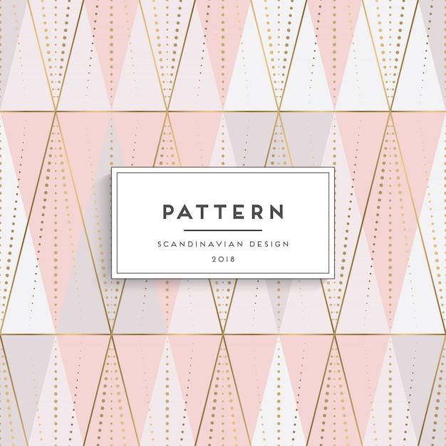 Scandinavian pattern design Free Vector