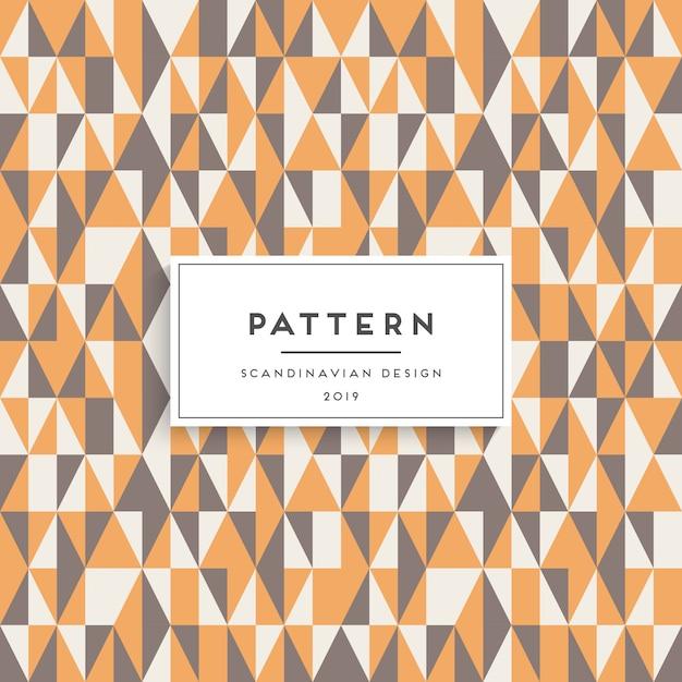 Scandinavian seamless pattern. fabric print design Free Vector