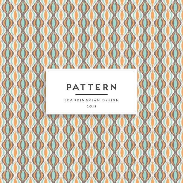 Scandinavian seamless pattern. fabric print design Free Vector