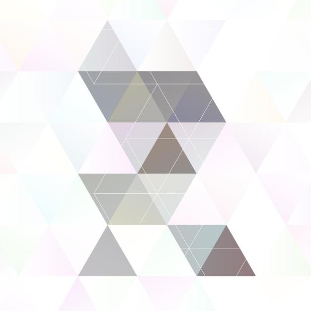 Scandinavian style abstract triangular art Free Vector