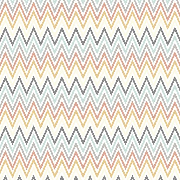 Scandinavian style art with chevron pattern Free Vector