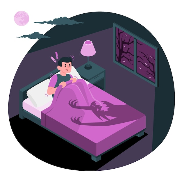 Scared concept illustration Free Vector