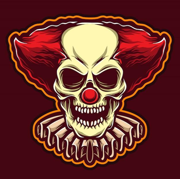 Scary clown logo Premium Vector