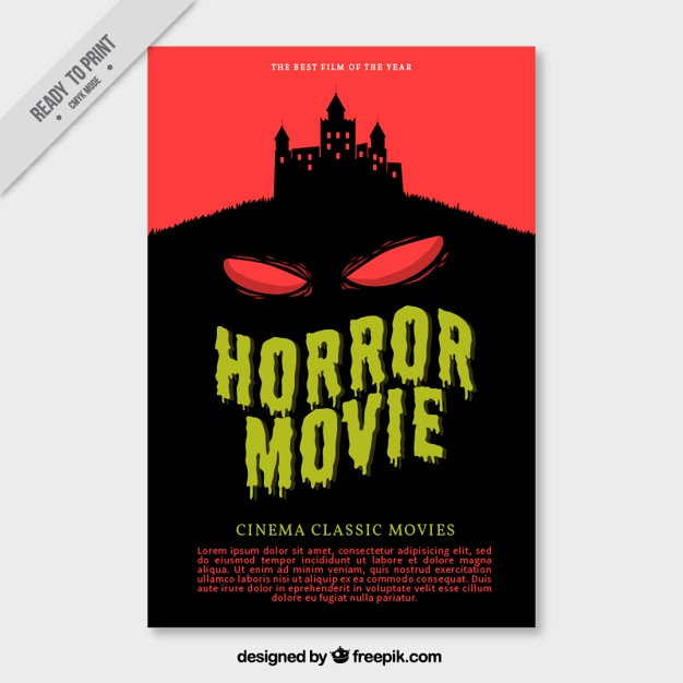 scary movie poster vector free download