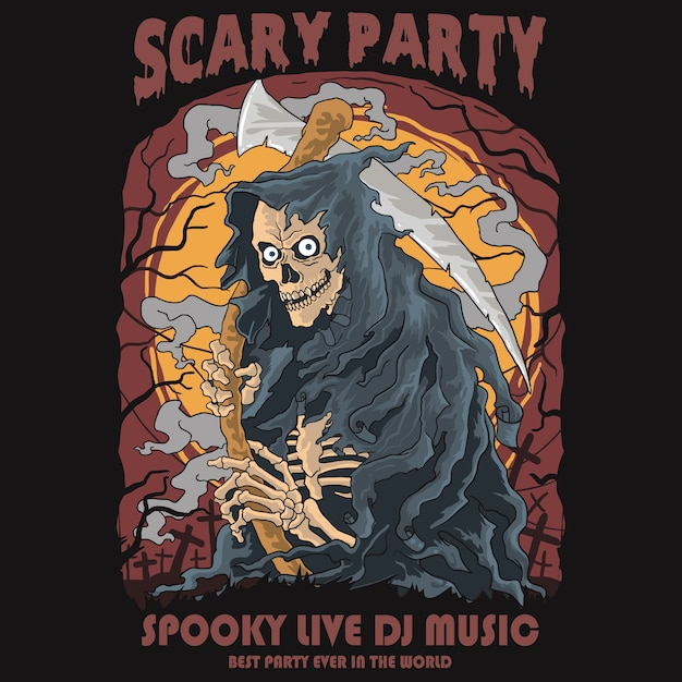 Scary party Premium Vector