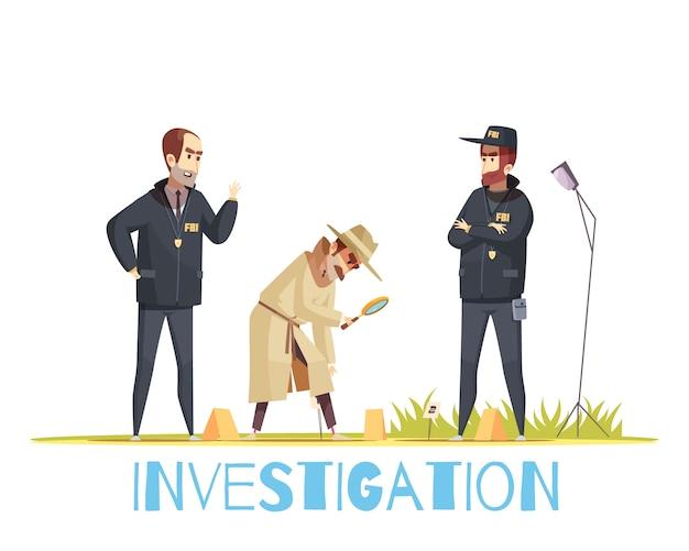 Scene of crime composition Free Vector