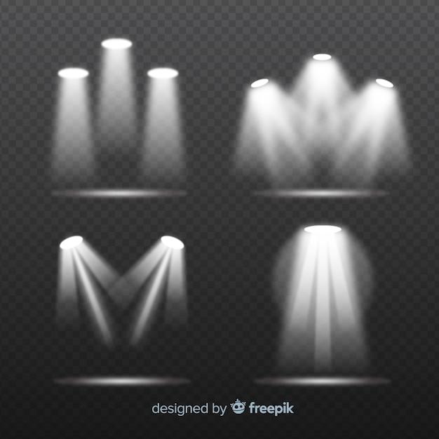 Scene illumination collection Free Vector