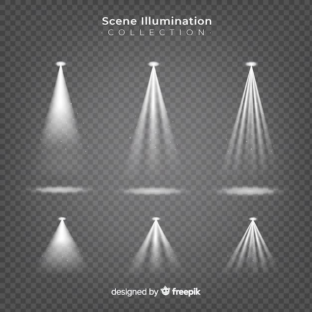 Scene spotlights collection Free Vector