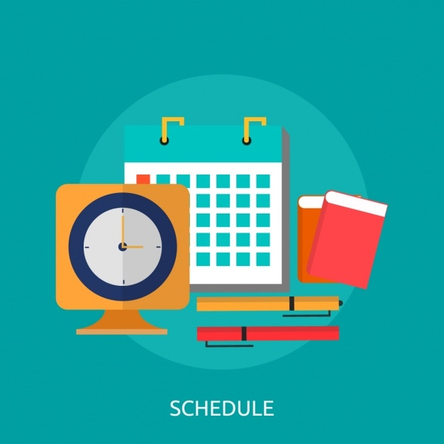 Calendar Wallpaper Program : Schedule background design vector free download