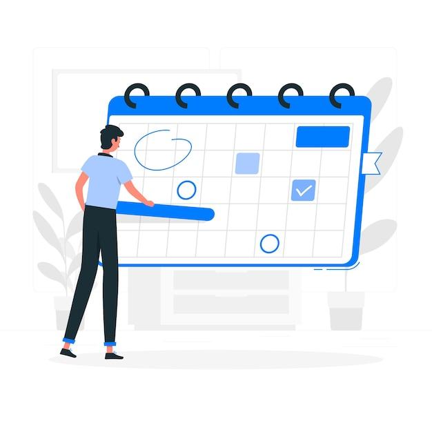 Schedule concept illustration Free Vector