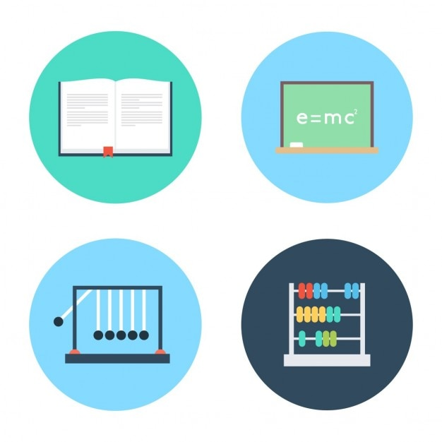 School and education icon set Vector | Free Download