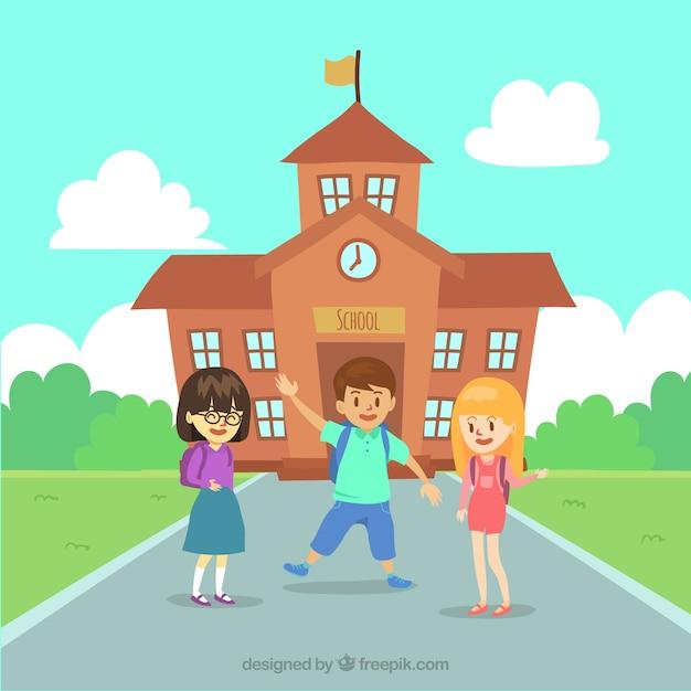School background with children