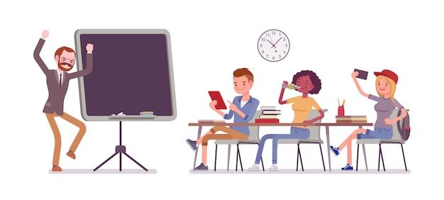 School bad behaviour Premium Vector