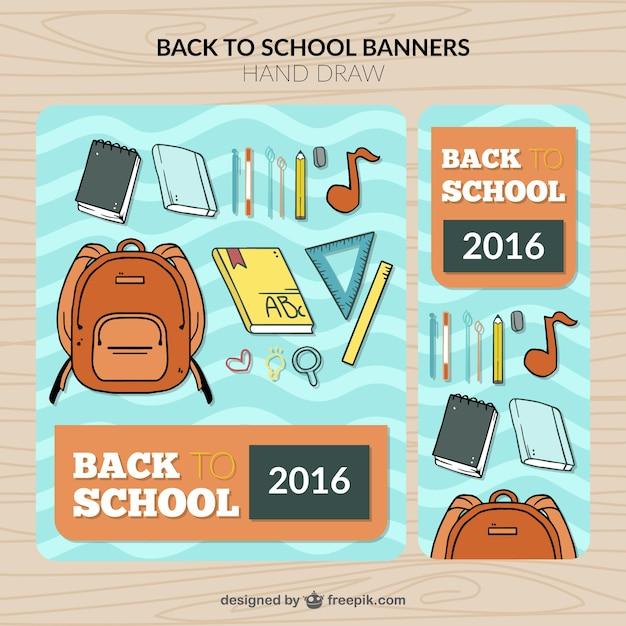 مدرسه آگهی ها از عناصر کشیده دست