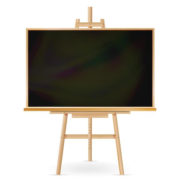 School blackboard on white Premium Vector