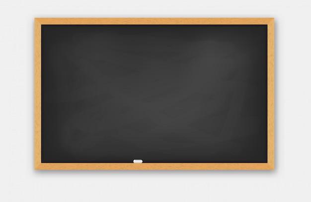 School  blackboard wooden frame. Premium Vector