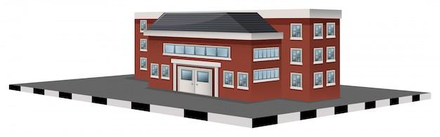 School building in 3d design Free Vector