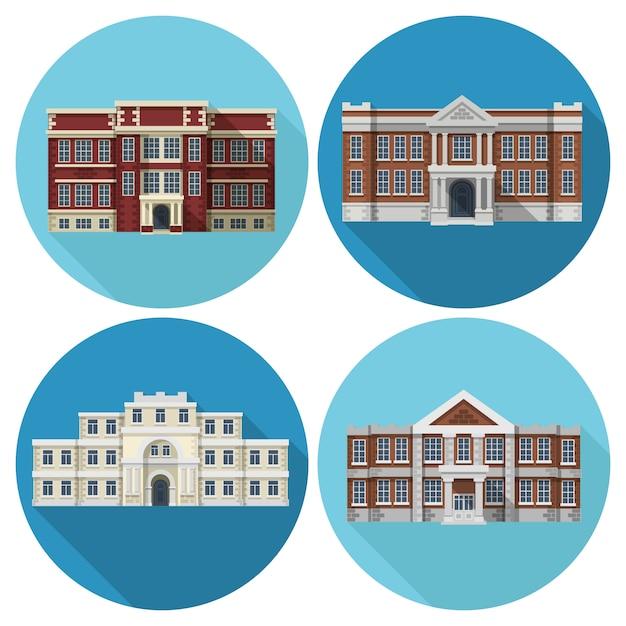 Школьное здание Бесплатные векторы