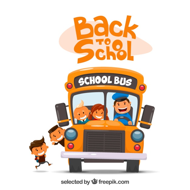 School bus illustration Free Vector