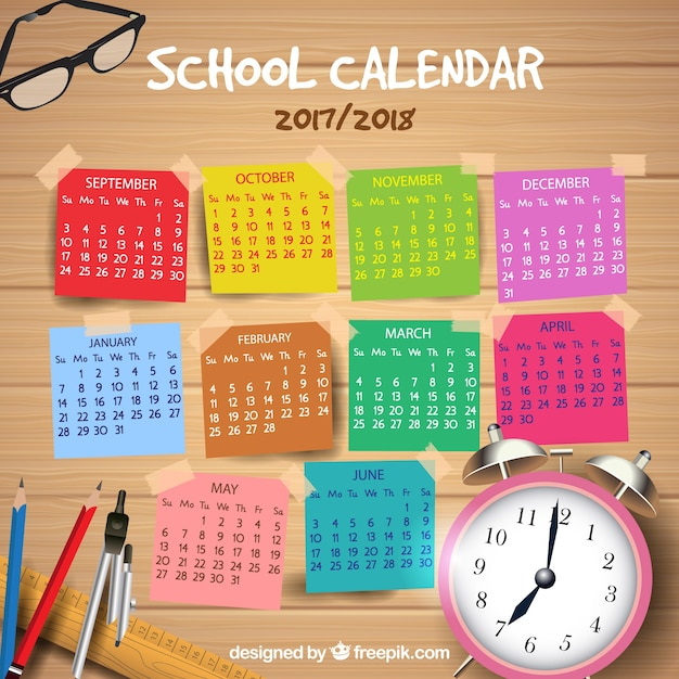 School Calendar  Vector  Free Download