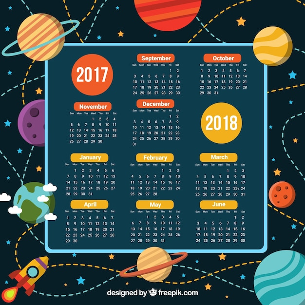 School calendar and the space