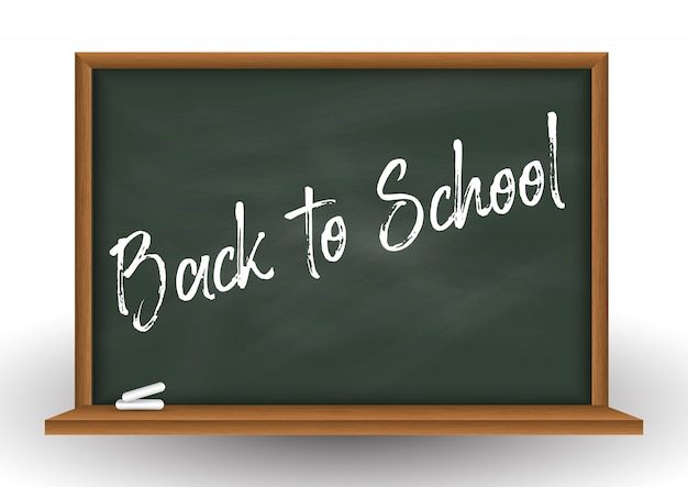 School Chalkboard Background With Chalk Free Vector
