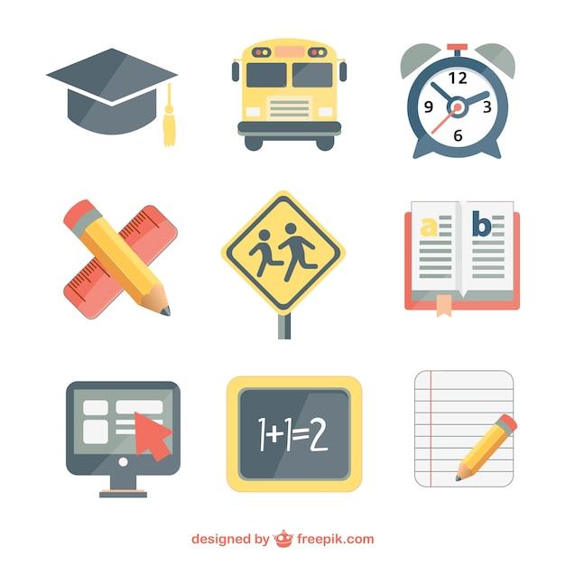 Scuola vector set free download Vettore gratuito
