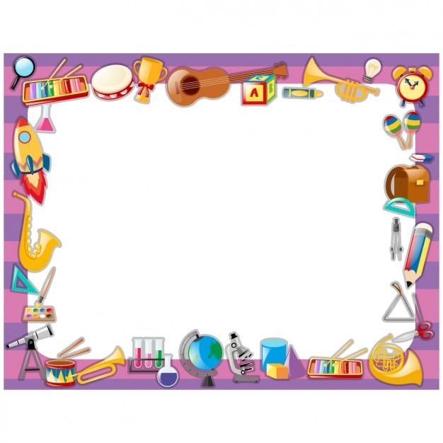 School frame design Vector | Free Download