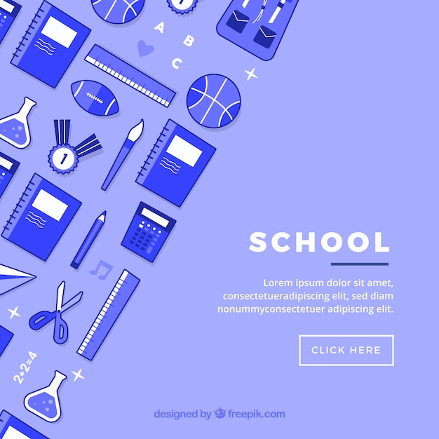 School icons background Free Vector