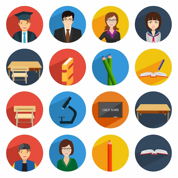 School icon vector free download