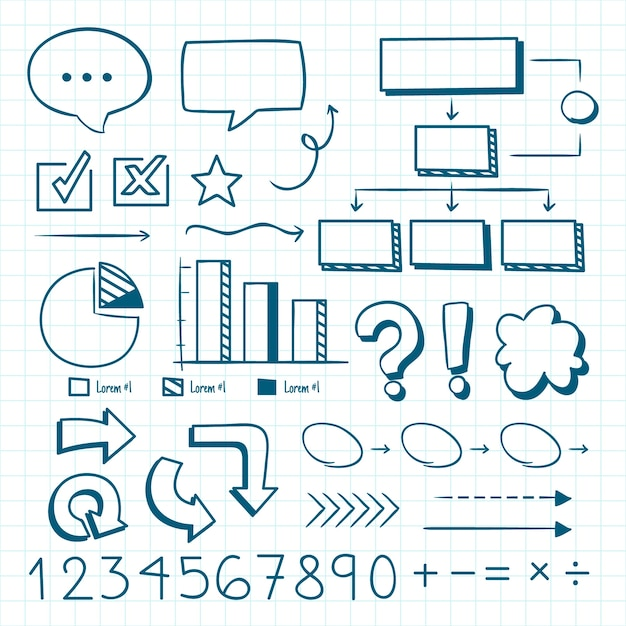 School infographic elements hand drawn Free Vector