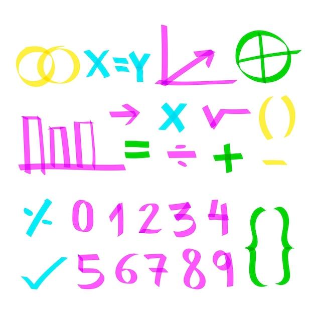 Elementi di infografica scuola con pennarelli colorati Vettore gratuito