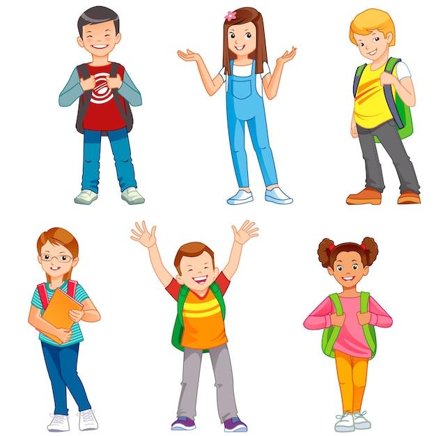 School kids Premium Vector
