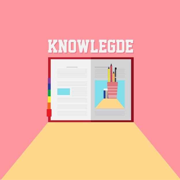 School knowledge poster Premium Vector