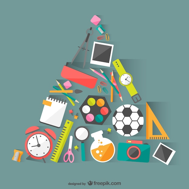 School materials vector vector free download for Waste material images