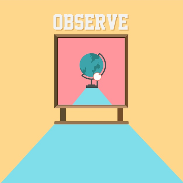 School observe poster Premium Vector
