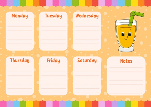 Empty Schedule Template from image.freepik.com