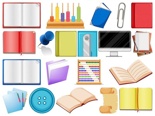 School or school equipment Free Vector