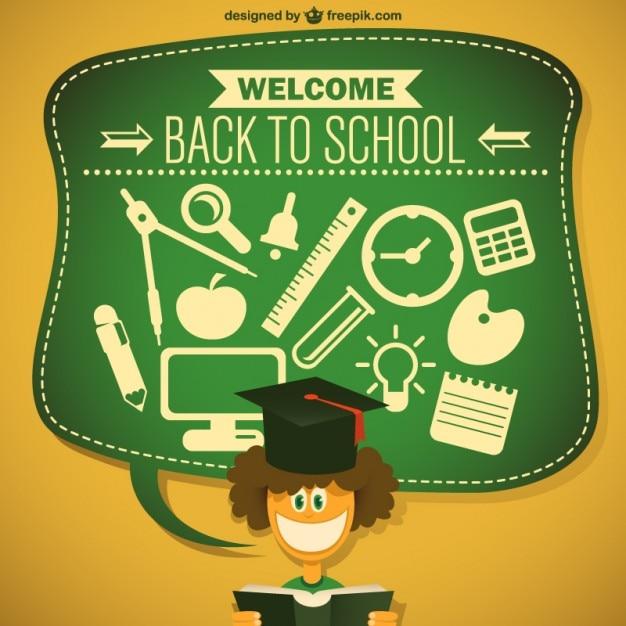 Student cartoon vector free download